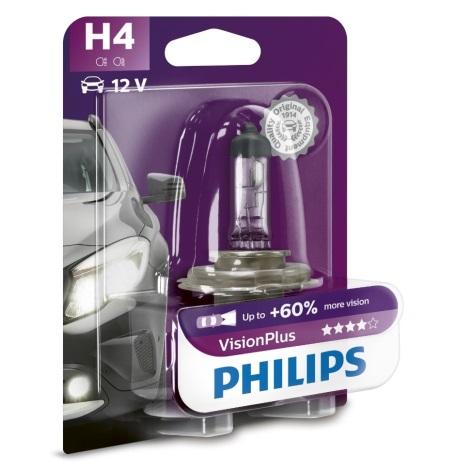 Avto žarnica Philips VISION PLUS 12342VPB1 H4 P43t-38/55W/12V