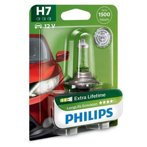 Avtožarnica Philips ECOVISION 12972LLECOB1 H7 PX26d/55W/12V
