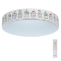 De Markt - LED Zatemnitvena otroška stropna svetilka HI-TECH 1xLED/50W/230V + daljinski upravljalnik
