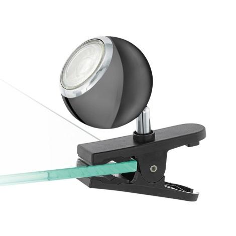 Eglo 96838 - LED Reflektor s sponko BIMEDA 1xGU10/3,3W/230V črn