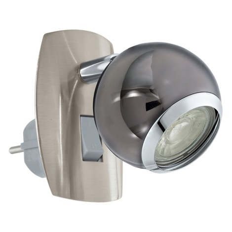 Eglo 96841 - LED Stenska svetilka za vtičnico BIMEDA 1xGU10/3,3W/230V siva