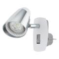 Eglo 96846 - LED Stenska svetilka v vtičnico MONCALVIO 1 1xGU10/3,3W/230V