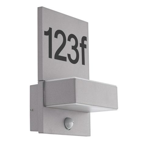 Eglo 97127 - LED hišna številka s senzorjem ARDIANO 2xLED/5,6W/230V IP44