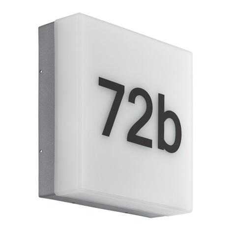 Eglo 97289 - LED hišna številka CORNALE LED/8,2W/230V IP44