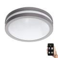 Eglo 97299 - LED Zatemnitvena kopalniška stropna svetilka LOCANA-C LED/14W siva