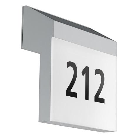 Eglo 97339 - Solarna hišna številka LUNANO LED/2W/3,7V IP44
