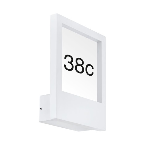 Eglo 98143 - Hišna številka MONTEROS 1xE27/28W/230V IP44 bela