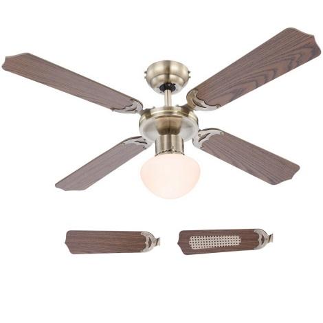 Globo 03804 - Stropni ventilator CHAMPION 1xE27/60W/230V