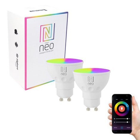 Immax NEO - 2xLED RGB Zatemnitvena žarnica GU10/3,5W/230V + upravljalnik ZigBee
