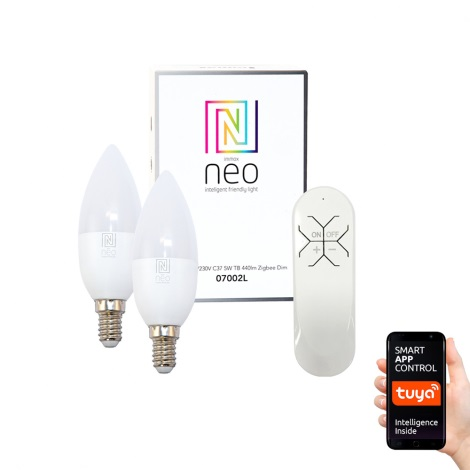 Immax NEO - 2xLED Zatemnitvena žarnica E14/5W/230V + upravljalnik ZigBee