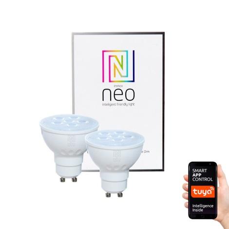 Immax NEO - 2xLED Zatemnitvena žarnica GU10/4,8W/230V ZigBee