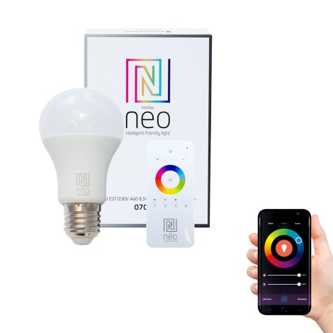 Immax NEO - LED Zatemnitvena žarnica E27/8,5W/230V + upravljalnik ZigBee