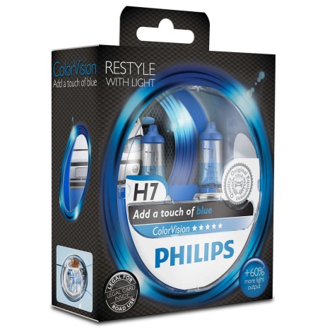 KOMPLET 2x Avto žarnica Philips COLOR VISION 12972CVPBS2 H7 PX26d /55W/12V
