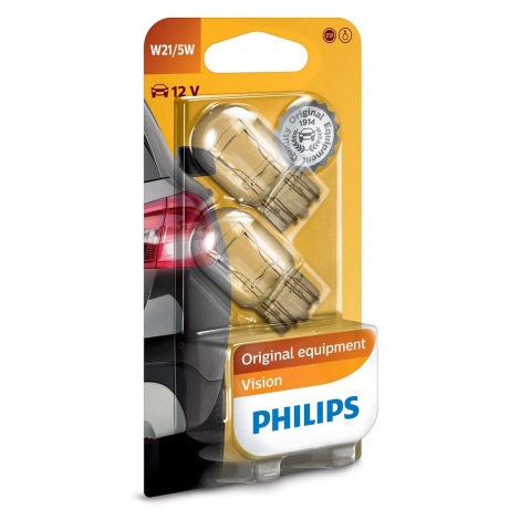 KOMPLET 2x Avto žarnica Philips VISION 12066B2 W3x16q/5W/12V