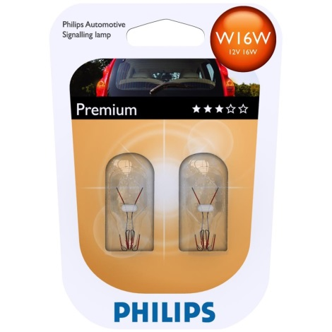 KOMPLET 2x Avto žarnica Philips VISION 12067B2 W16W W2,1x9,5d/16W/12V