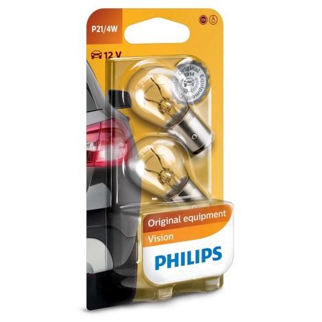 KOMPLET 2x Avto žarnica Philips VISION 12594B2 BAZ15d/4W/12V