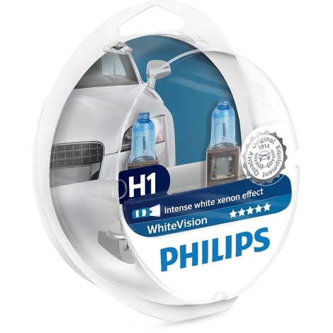 KOMPLET 2x Avto žarnica Philips WHITEVISION 12258WHVSM H1 P14,5s/55W/12V