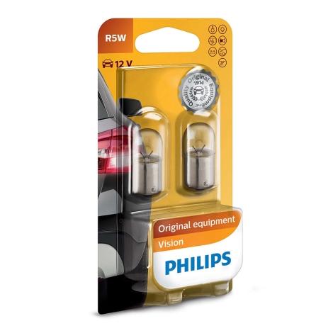 KOMPLET 2x Avtožarnica Philips VISION 12821B2 R5W BA15s/5W/12V
