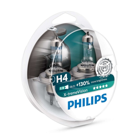KOMPLET 2x Avtožarnica Philips X-TREMEVISION 12342XV+S2 H4 P43t-38/60W/55W/12V