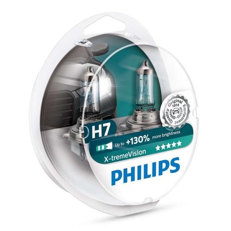 KOMPLET 2x Avtožarnica Philips X-TREMEVISION 12972XV+S2 H7 PX26d/55W/12V