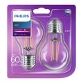 KOMPLET 2x LED žarnica E27/6W/230V - Philips