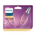 KOMPLET 2x LED Žarnica Philips E14/4,3W/230V