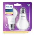 KOMPLET 2x LED žarnica Philips E27/8W/230V