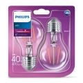 KOMPLET 2x LED Žarnica VINTAGE Philips E27/4W/230V 2700K