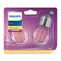 KOMPLET 2xLED Žarnica VINTAGE E27/4W/230V 2700K - Philips