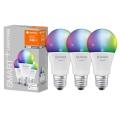 KOMPLET 3x LED RGBW Zatemnitvena žarnica SMART+ E27/9,5W/230V 2700K-6500K Wi-Fi - Ledvance