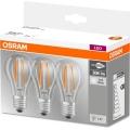 KOMPLET 3x LED Žarnica BASE VINTAGE E27/6W/230V 4000K – Osram