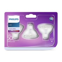 KOMPLET 3x LED Žarnica GU5,3/MR16/8,2W/12V 4000K - Philips