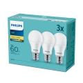 KOMPLET 3x LED Žarnica Philips E27/9W/230V