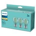 KOMPLET 3x LED Žarnica VINTAGE Philips A60 E27/7W/230V 2700K