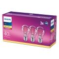 KOMPLET 3x LED Žarnica VINTAGE Philips E27/4,3W/230V 2700K