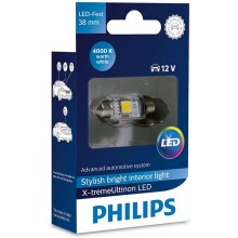 LED Avto žarnica Philips X-TREME ULTINON 128584000KX1 LED SV8.5-8/0,8W/12V 4000K