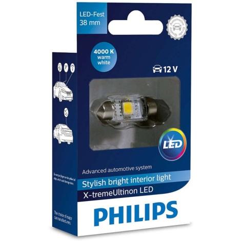 LED Avto žarnica Philips X-TREME ULTINON 128584000KX1 LED SV8.5-8/0,8W/12V 4000K