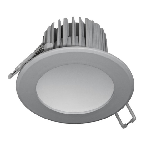 LED Kopalniška vgradna svetilka LED/7W/230V 2800K siva IP44