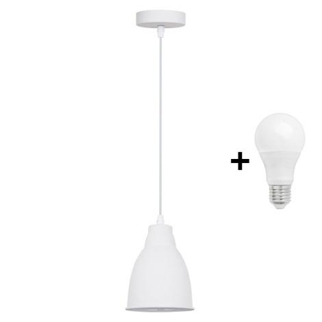 LED Lestenec 1xE27/10W/230V bel 13,5cm