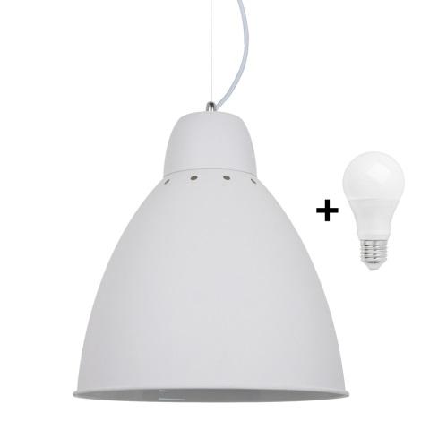LED Lestenec 1xE27/10W/230V bel 29,5cm