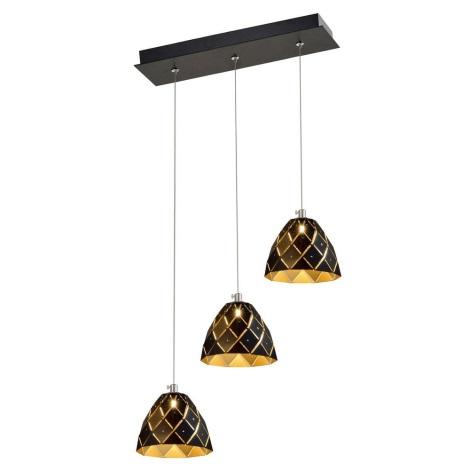 LED Lestenec na vrvici DORI 3xLED/4W/230V