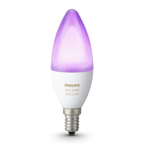 LED RGB Zatemnitvena žarnica Philips HUE WHITE AND COLOR AMBIANCE E14/6W/230V