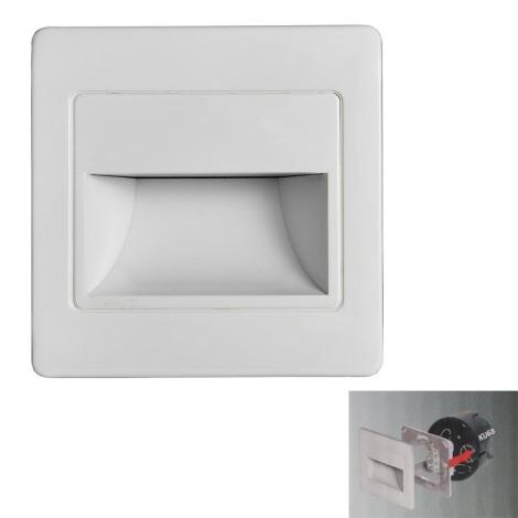 LED Stopniščna svetilka STEP LIGHT LED/1,5W/230V bela