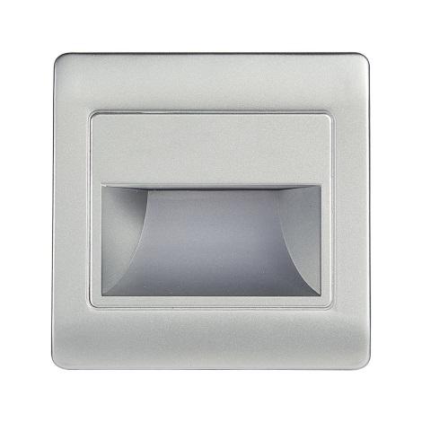 LED stopniščna svetilka STEP LIGHT NET LED/1,5W/30V srebrna