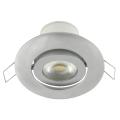 LED Vgradna svetilka nagibna LED/7W srebrna