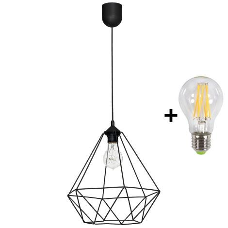 LED Viseča svetilka BASKET 1xE27/10W/230V