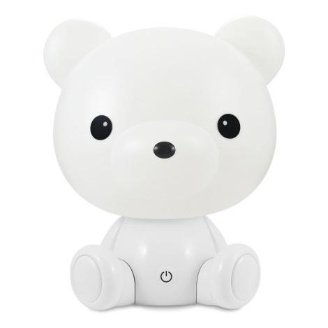 LED Zatemnitvena otroška nočna lučka LED/2,5W/230V medvedek bela