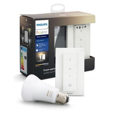 LED Zatemnitvena žarnica Philips HUE WHITE AMBIANCE 1xE27/8,5W/230V 2200-6500K