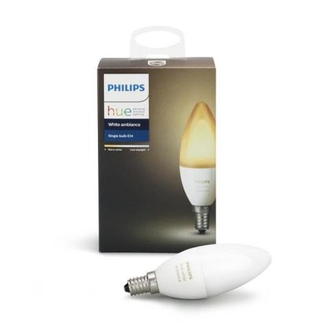 LED Zatemnitvena žarnica Philips HUE WHITE AMBIANCE E14/6W/230V
