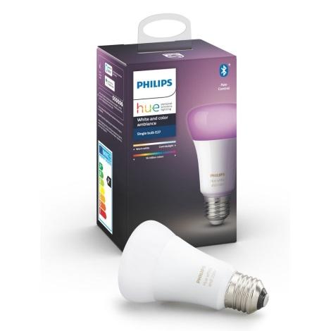 LED Zatemnitvena žarnica Philips HUE WHITE AND COLOR AMBIANCE E27/9W/230V